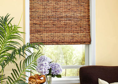 Thermal Insulation Manual Natural Reed Blinds Custom Window Bamboo Mat Blinds