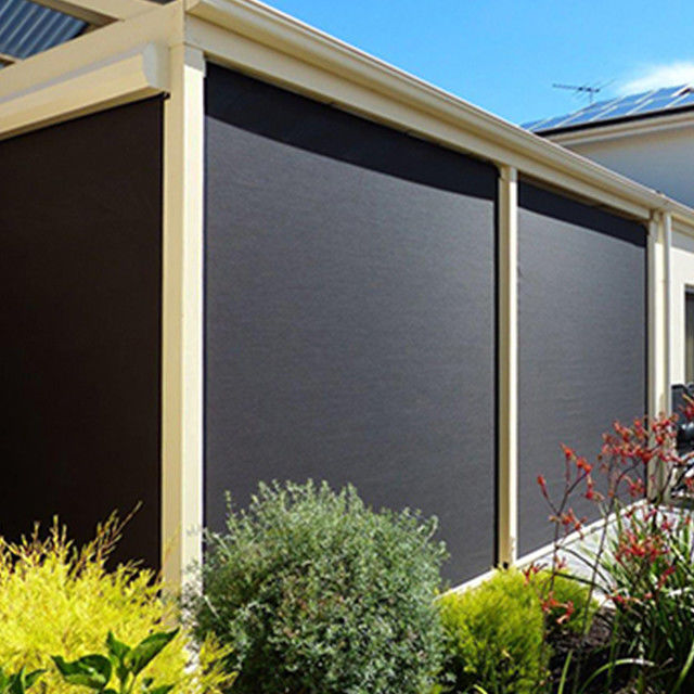 Remote Control UV Proof Zip Track Blinds For Garden